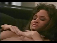 Elegant and sexy brunette MILF Lili Xene makes love to her fucker named Peter North 5