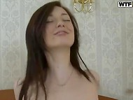 Teen dude picks up cute Russian babe with petite body and fucks her at his apartment 10