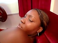 Dark-skinned hooker surely wants to make her naughty friend entirely pleased 11