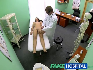 FakeHospital: young doctor gives Lucie Bramborova quick check over, fucks her and cums inside her pussy