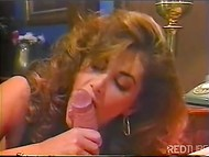 Gorgeous MILF watches her husband drilling beautiful slut with big boobs