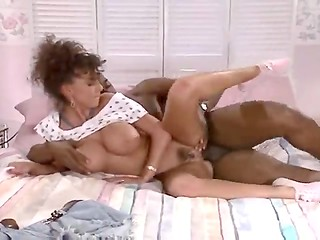 Big titted Ebony MILF makes voluptuous love to her black boyfriend and white neighbor