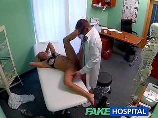 FakeHospital: blonde girl feels better after sex and warm creampie