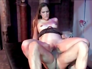 Crazy hot mistress Cristina Agave is happy to get this cock in every hole of her body