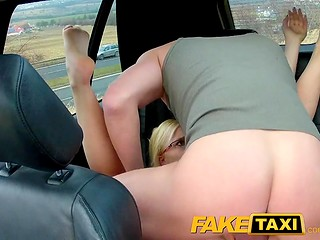 FakeTaxi: Czech blonde takes revenge on bf and sleeps with driver in cab