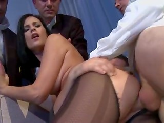 Horny French MILF Claire Castel with great set of boobs loves getting fucked by strong men