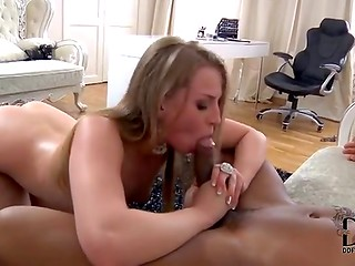 Russian cute secretary Milana Fox gets punished by her strict boss