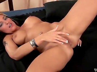 Hot lady Milena fingers herself and moans getting real orgasms in the solo masturbation scene