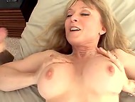 Young fucker bangs busty MILF in her always hungry pussy 11
