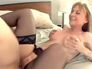Young fucker bangs busty MILF in her always hungry pussy