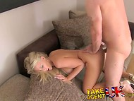 Blonde fucked and sucked at the casting for a new job