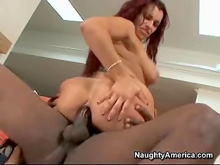 Fantastic redhead MILF wants to get big blak cock in her tight ass