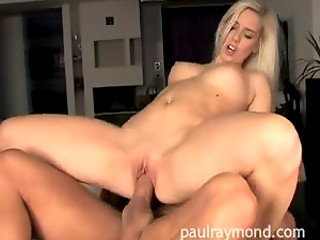 Hot stud bangs super cute Hungarian lady Katrin Wolf then she gets her tits cum glazed