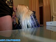 PublicAgent scene with long-haired busty blonde girlfriend 6