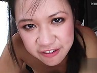 Asian girlfriend takes cock really deep in the throat 7