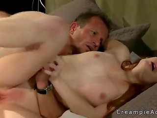 Fair-skinned redhead honey in the voluptuous sex scene with her lover