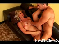 Crazy blonde MILF prefers to have wild sex and to taste fresh sperm on her lips