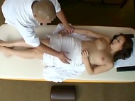 Masseur seduced this female client for sex by rubbing her tits so she could not even resist