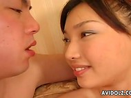 New Asian couple decides to start their sexual experience with stimulatings and oral sex 8