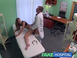 Super-slender beautiful babe will never forget this medical examination by young doctor