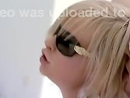 Buxom blonde was sunbathing when he came with dirty assfucking ideas and already hard cock 6