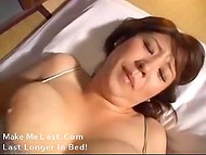 Big-breasted Asian coquette gets fingered really hard by her lovely boyfriend