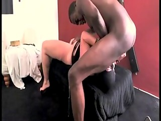 Chocolate-skinned lovelace pounded his appetizing white madame in the latex suit