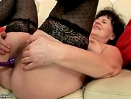 Old grannies with big buds in sexy stockings get drilled by young hard dicks 10