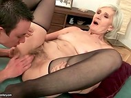 Old grannies with big buds in sexy stockings get drilled by young hard dicks 5
