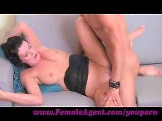 Female agent: Honza showing his muscular body and fucking with an agent
