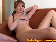 Fantastic chick with natural boobies prefers getting naughty in the casting 4