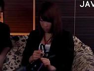 Asian with camera in hands thrust his fingers in sensitive schoolgirl's vagina  3