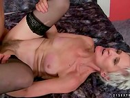 Athletic fellows fuck sexy ladies and juicy grannies with yummy natural breasts in all poses 6