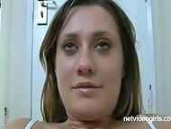 Young stunning bombshell with charming eyes gets gently penetrated in the casting
