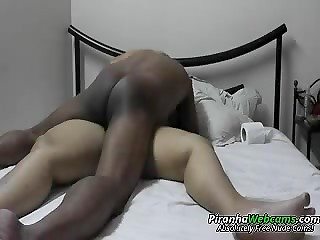 Black fucker and his super fat white wife fucking in front of the amateur camera