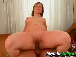 Fatty woman gets her perfectly shaved pussy fucked and creampied by her neighborhood lover