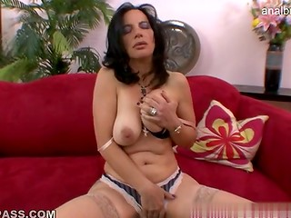 Mature nympho with natural boobs presents marvelous blowjob to her husband in the POV video