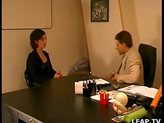 Voluptuous fucking in the office with mature woman and young boss