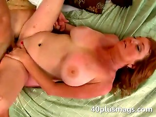 Appetizing MILF gets stiff cock with real pleasure shaking her big natural tits
