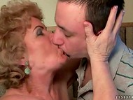 Unbelievable grannies getting entirely satisfied, when riding big hard peckers