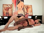 Unbelievable grannies getting entirely satisfied, when riding big hard peckers 8