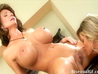 Outstanding mature lesbian bombshells playing with their always sweet and wet pussies