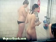 Hidden spy camera caught unsuspecting naked women in the public female shower