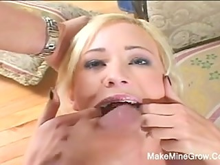 Only lucky guy with big cock fucks two gorgeous coquettes in all possible holes