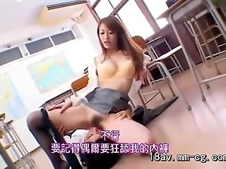 Japanese girl hoped to fuck only the boss but she had to suck all cocks in office