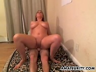 Appetizing bitch makes dirty love with a neighborhood bastard while her husband is at work