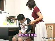 Asian slut trains her obedient sex partners like unexperienced puppies with no complexes 10