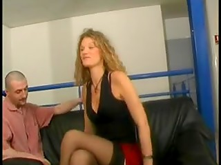 Curious French babe in black stockings discovered the initial basics of the anal penetration