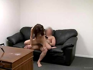 Seductive chick came in the casting to demonstrate her wonderful sexual talents