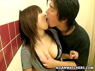 Japanese whores are ready to satisfy any stranger for cash in the public toilet